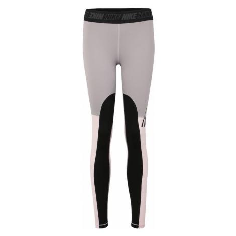 NIKE Spodnie sportowe 'W NK VCTY SPRT DSTRT TGHT' szary / różowy pudrowy / czarny