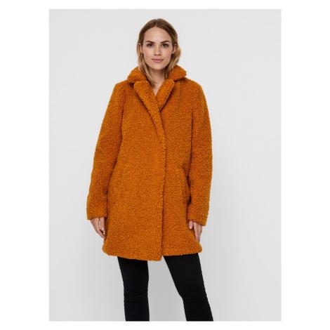 Zimowy płaszcz Noisy May Gabi w kolorze pomarańczowym