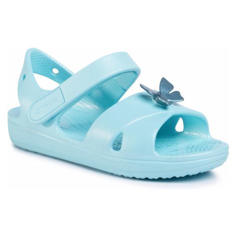 Sandały CROCS - Classic Cross Strap Sandal Ps 206245 Ice Blue