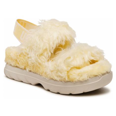 Sandały UGG - W Fluff Sugar Sandal 1119999 Yel