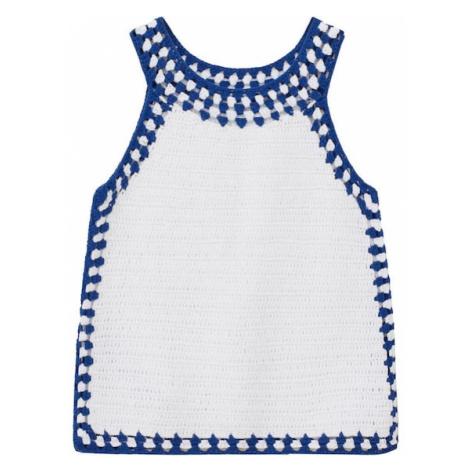 MANGO KIDS Top 'Molly' biały / niebieski
