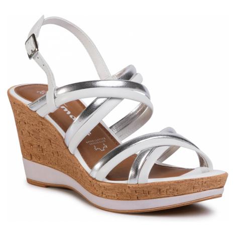 Sandały TAMARIS - 1-28009-24 White/Silver 191