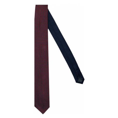 Tommy Hilfiger Tailored Krawat Micro Design Silk TT0TT07646 Czerwony