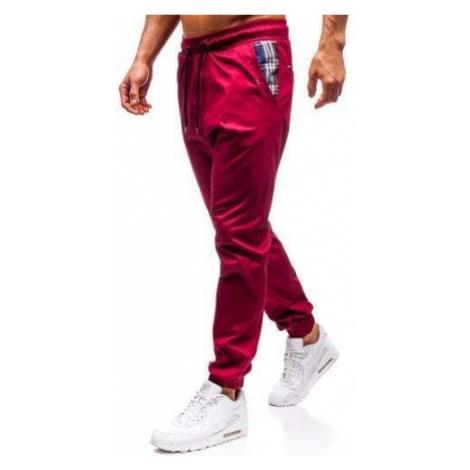 Spodnie joggery męskie bordowe Bolf 0449