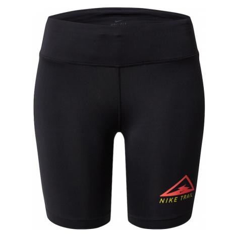NIKE Spodnie sportowe 'Nike Fast' czerwony / czarny