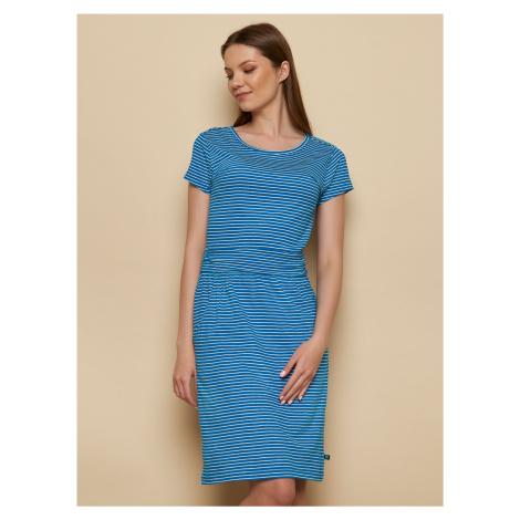 Tranquillo niebieska sukienka w paski Tira