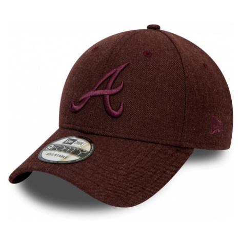 New Era 9FORTY MLB WINTERIZED THE LEAGUE ATLANTA BRAVES bordowy UNI - Klubowa czapka z daszkiem