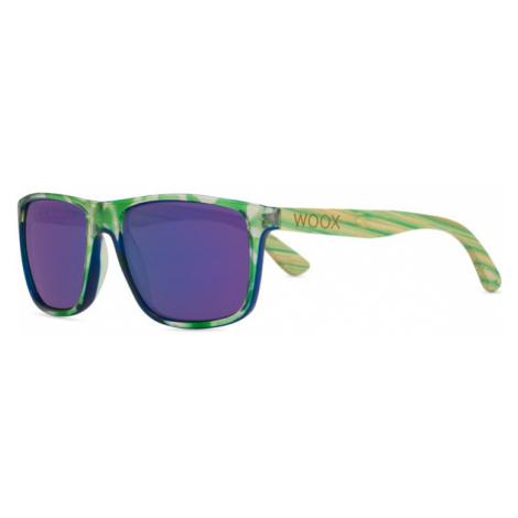 Bambusowe Okulary Przeciwsłoneczne Unisex | Zielone Contrasol Bambusa Chloris Woox