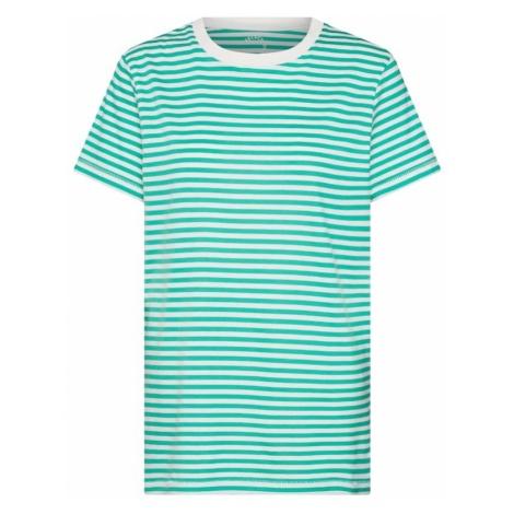 SELECTED FEMME Koszulka 'MY PERFECT' zielony / biały