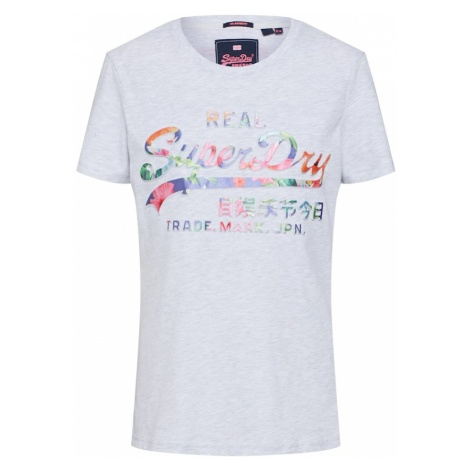 Superdry Koszulka 'Tropical' jasnoszary / mieszane kolory