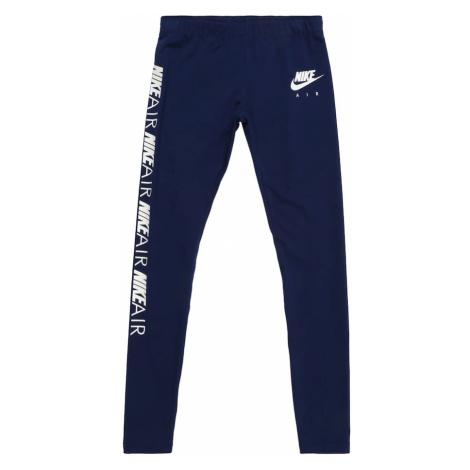 Nike Sportswear Legginsy ciemny niebieski / biały