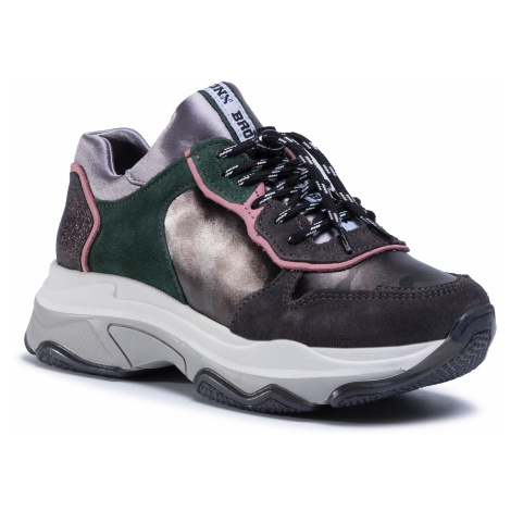 Sneakersy BRONX - 66167C-PB Asphalt/Gunmetal Camo/Pink