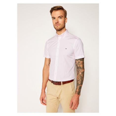 Tommy Hilfiger Koszula Essential Print MW0MW14484 Różowy Slim Fit