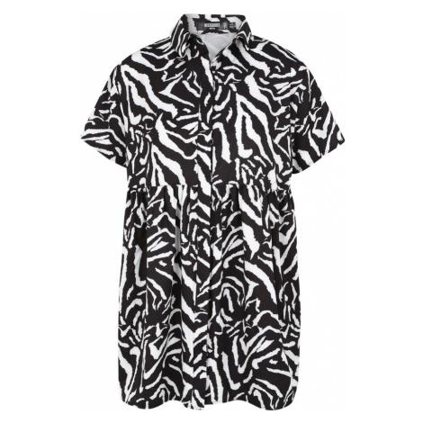 Missguided (Petite) Sukienka koszulowa czarny / biały