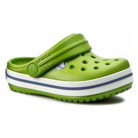 Klapki CROCS - Crocband Kids 10998 Parrot Green/White