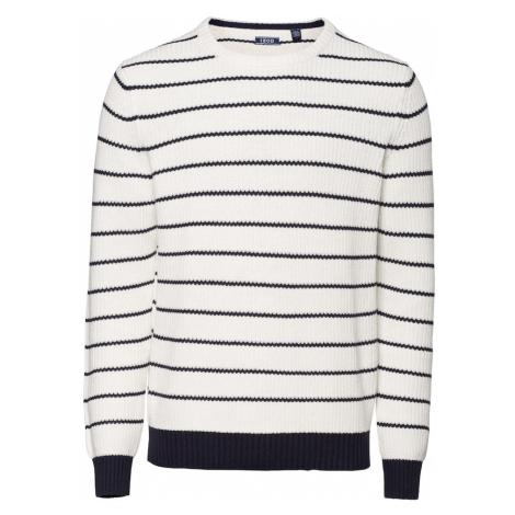 IZOD Sweter ciemny niebieski / offwhite
