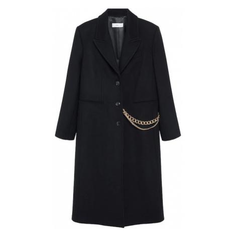 MANGO Płaszcz przejściowy 'Dandy' czarny