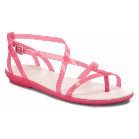 Sandały CROCS - Isabella Gladiator Sandal W 204914 Paradise Pink/Oyster