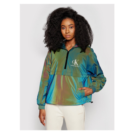 Calvin Klein Jeans Kurtka anorak J20J216092 Zielony Regular Fit