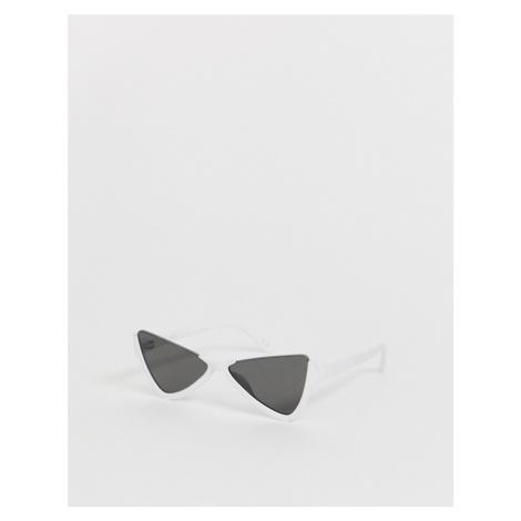 ASOS DESIGN half frame plastic butterfly sunglasses