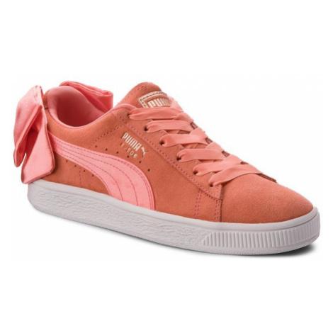 Puma Sneakersy Suede Bow Jr 367316 01 Pomarańczowy