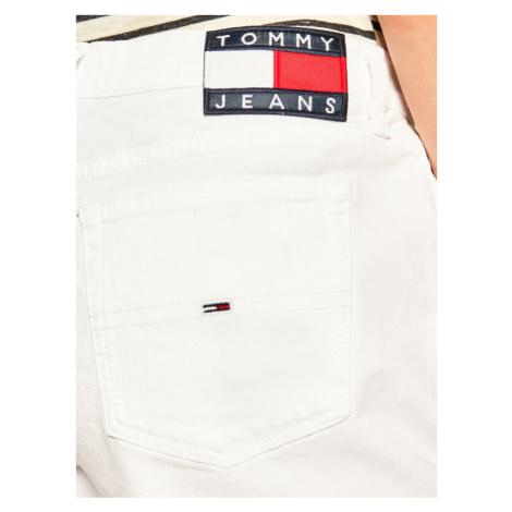 Tommy Jeans Szorty jeansowe DW0DW08281 Biały Slim Fit Tommy Hilfiger