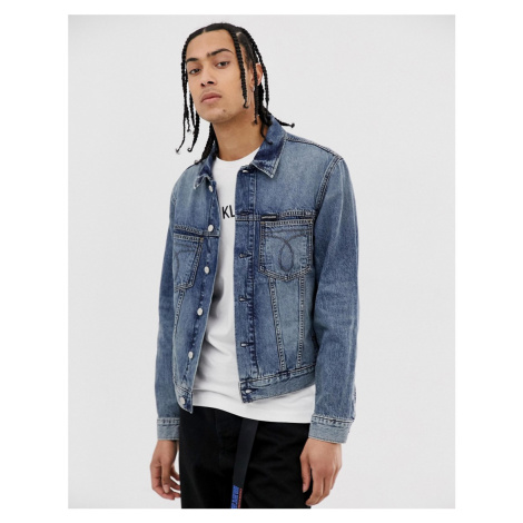 Calvin Klein Jeans omega slim denim jacket in lightwash blue
