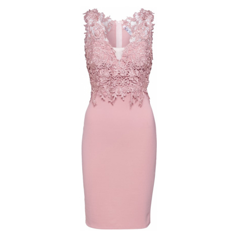 WAL G. Sukienka koktajlowa różowy pudrowy