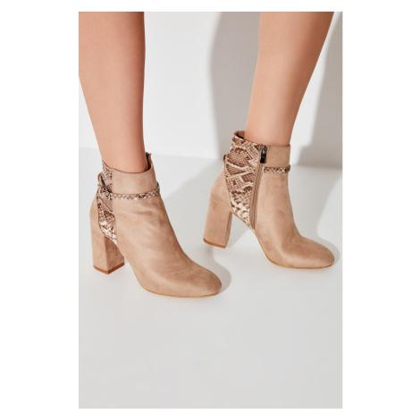 Trendyol Beige Suede Women's Boots