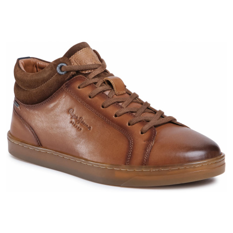 Sneakersy PEPE JEANS - Doc Lth PMS30693 Tan 867