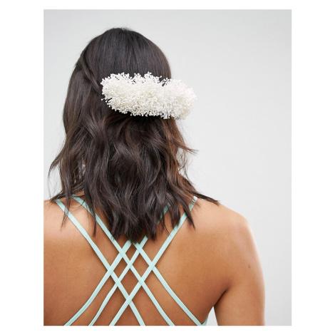 ASOS DESIGN Bridal Faux Gypsophila Back Hair Comb