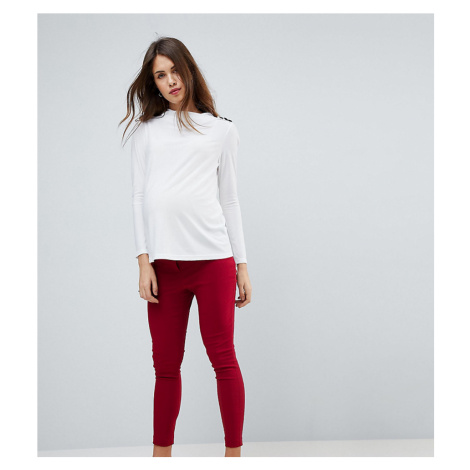 ASOS MATERNITY High Waist Trousers In Skinny Fit