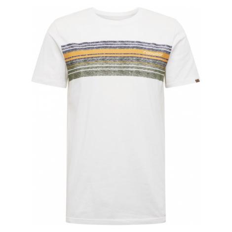 Ragwear Koszulka 'Hake' biały / granatowy / złoty żółty / oliwkowy