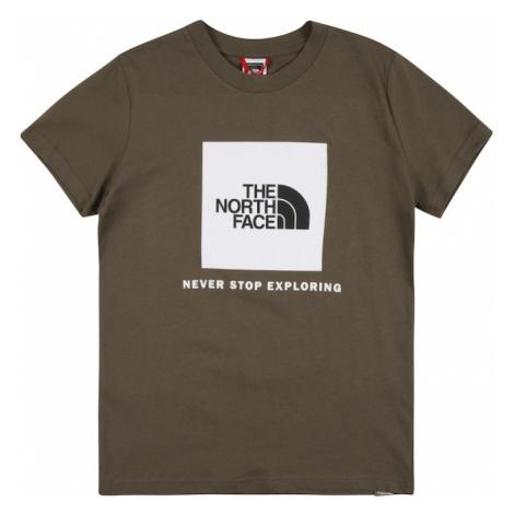 THE NORTH FACE Koszulka 'SUMMIT' biały / khaki / czarny