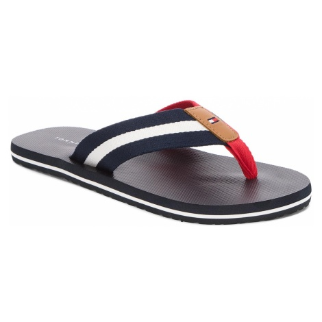 Japonki TOMMY HILFIGER - Beach Sandal With Stripes FM0FM01597 Midnight 403
