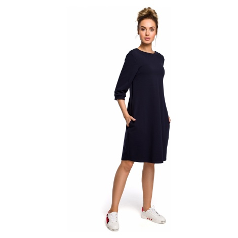 Made Of Emotion Woman's Dress M417 Navy Blue