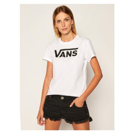 Vans T-Shirt Wm Flying V Crew Tee VN0A3UP4 Biały Regular Fit