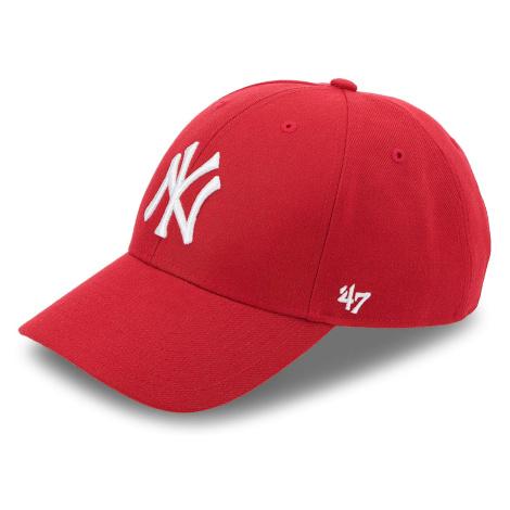 Czapka z daszkiem 47 BRAND - New York Yankees 47 B-MVP17WBV-RD Czerwony