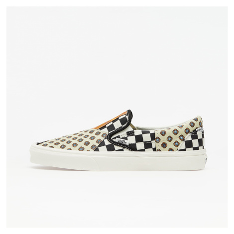 Vans Classic Slip-On (Tiger Patchwork) Black/ True White