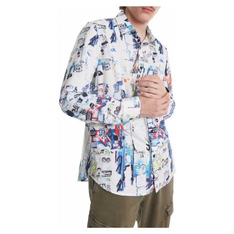 Desigual kolorowa koszula męska Cam Crispin