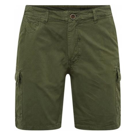 BLEND Spodnie 'Shorts' ciemnozielony