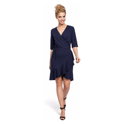 Made Of Emotion Woman's Dress M294 Navy Blue
