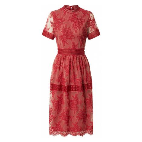 VILA Sukienka koktajlowa 'VIDIXIE S/S MIDI DRESS/DC' czerwony