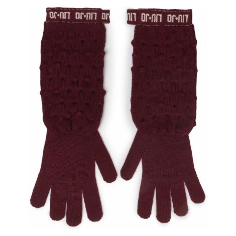 Rękawiczki Damskie LIU JO - Guanti Maglia Goffra 269051 M0300 Dark Red 91530