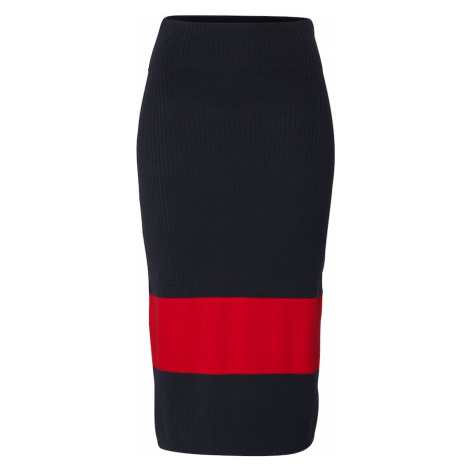 Calvin Klein Spódnica granatowy / czerwony