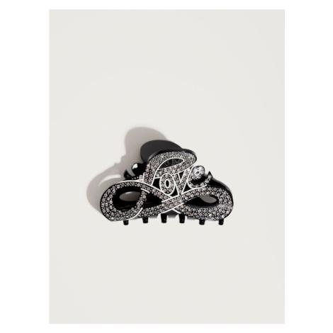 Pico For EDITED Biżuteria do włosów 'Love' czarny / srebrny