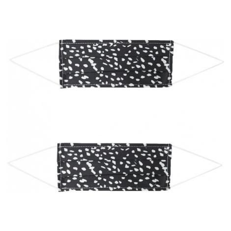 Zwillingsherz Maska z materiału '2er Pack Dotty' biały / czarny