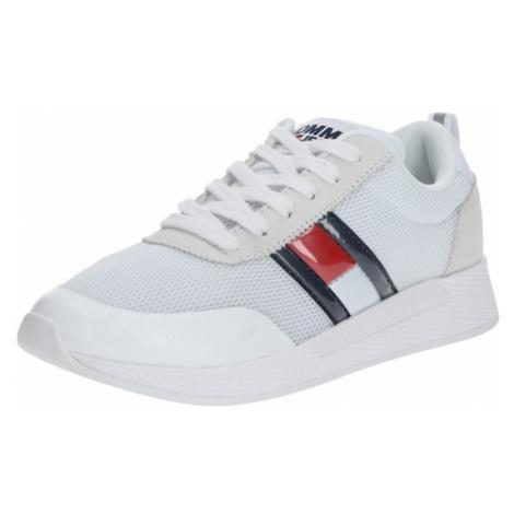 Tommy Jeans Trampki niskie 'LILLY 13C' biały / niebieski / czerwony / offwhite Tommy Hilfiger
