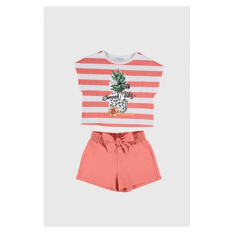 KOMPLET dziewczęcego T-shirtu i krótkich spodenek Mayoral Summer Vibes