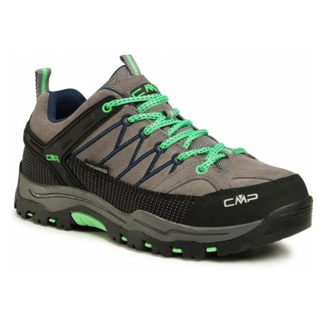 Trekkingi CMP - Rigel Low Trekking Shoes Wp 3Q13244J Graffite/Verde Fluo 29UF